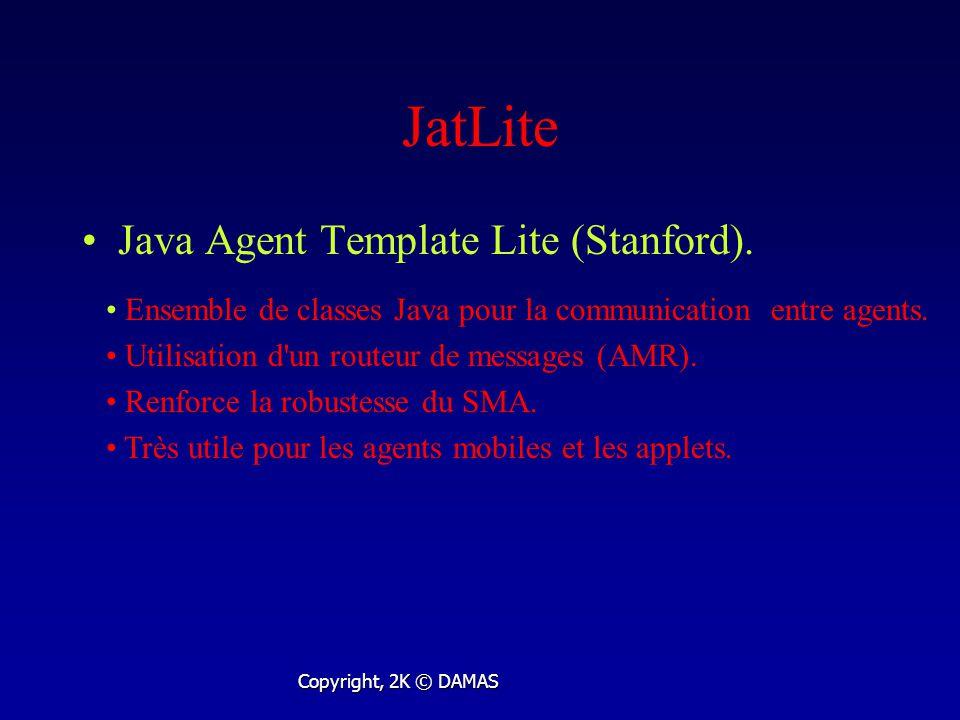 JatLite Java Agent Template Lite (Stanford).
