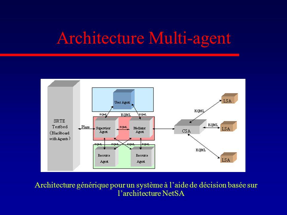 Architecture Multi-agent Architecture générique pour un système à laide de décision basée sur larchitecture NetSA