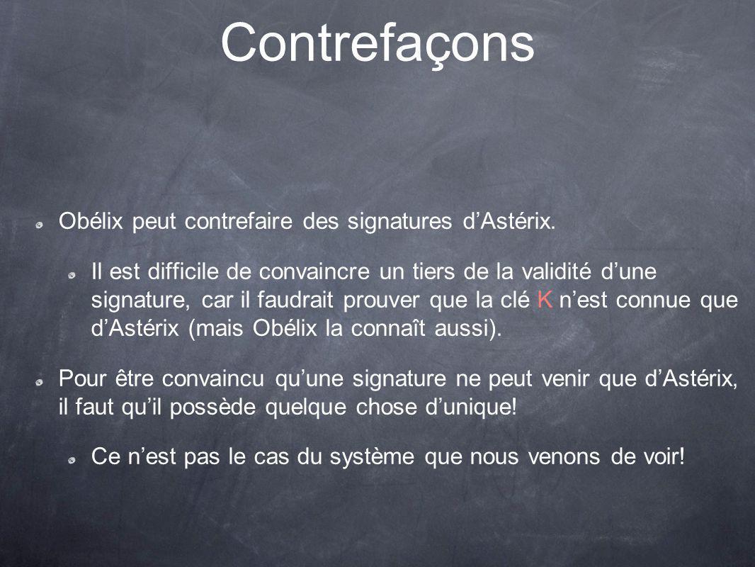 Contrefaçons Obélix peut contrefaire des signatures dAstérix.