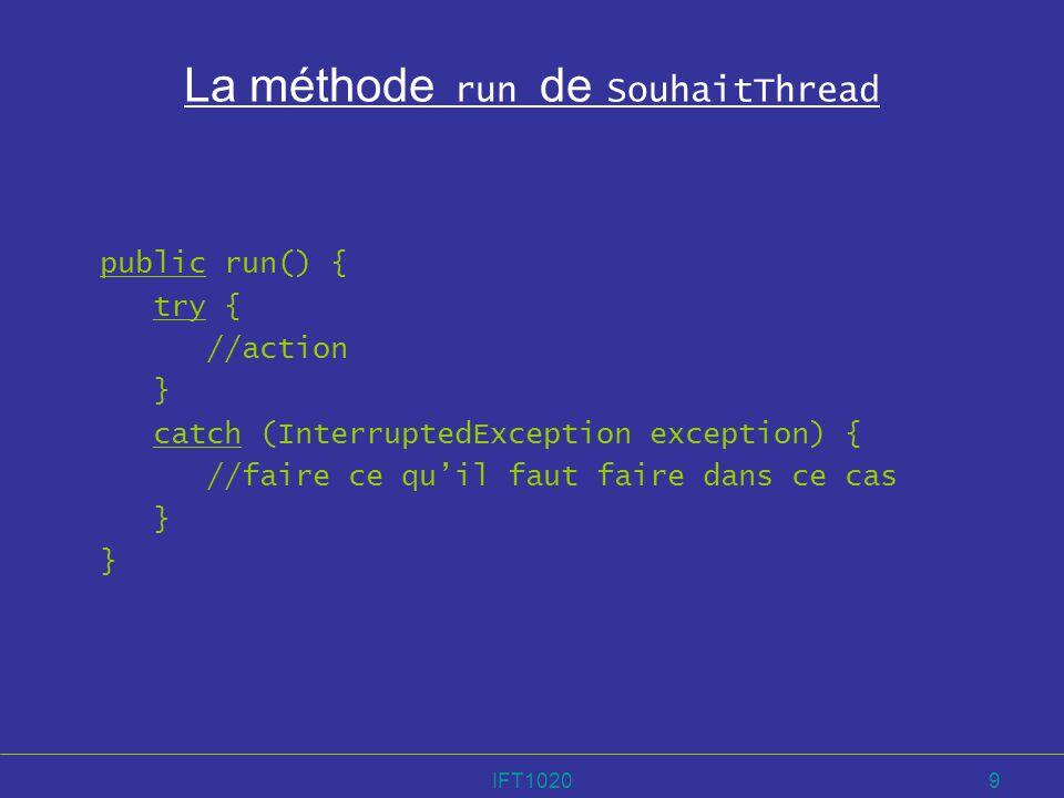 IFT102040 Animation du tri par sélection Ajouter un Applet à la classe de lalgorithme : public class Selection { public Selection(int[] tableau, Applet unApplet) { t = tableau; applet = unApplet; }...