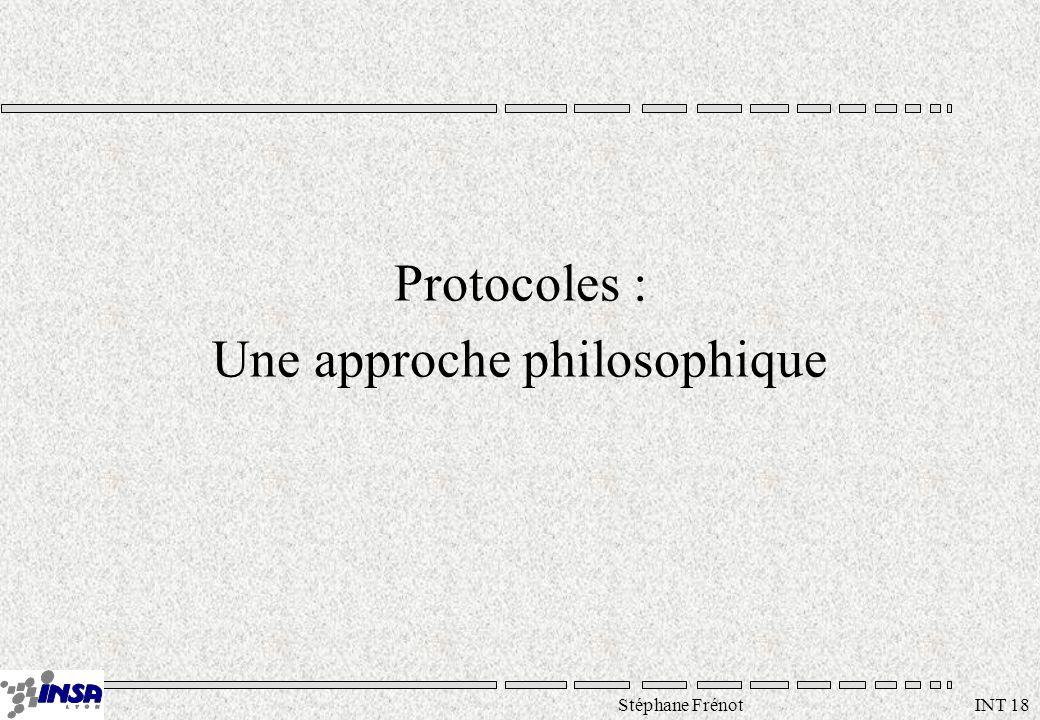 Stéphane Frénot INT 18 Protocoles : Une approche philosophique