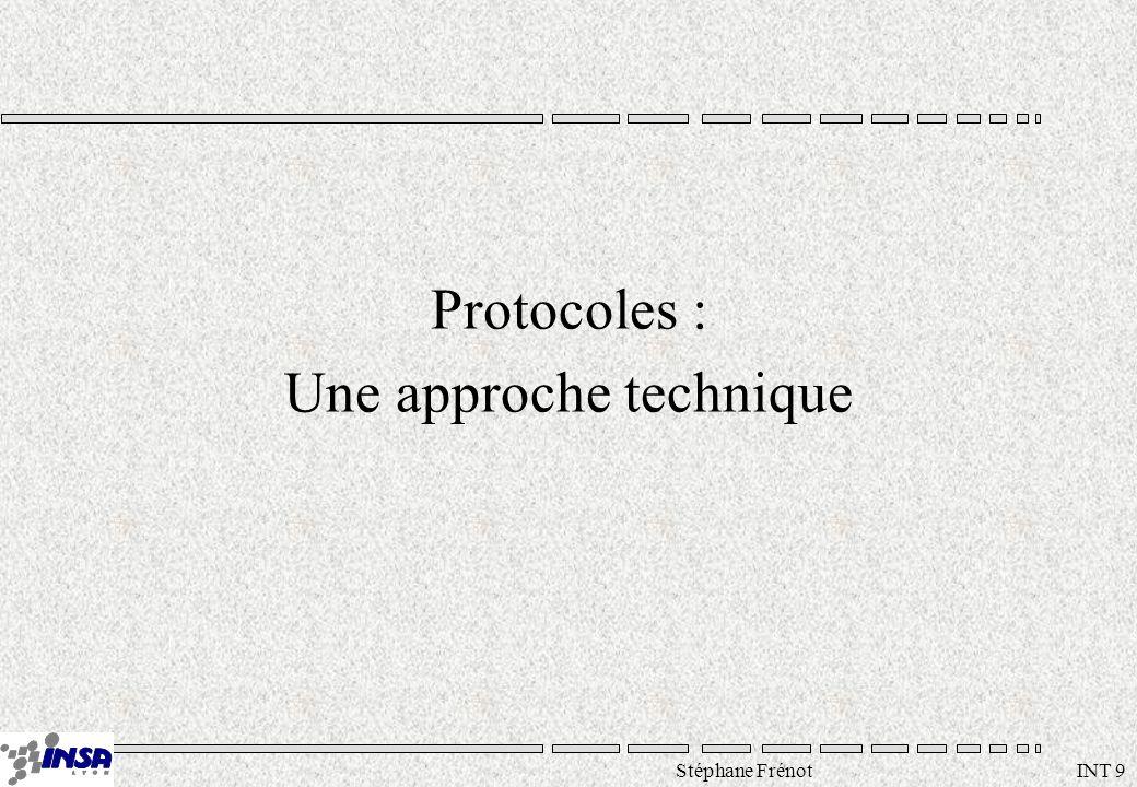Stéphane Frénot INT 9 Protocoles : Une approche technique