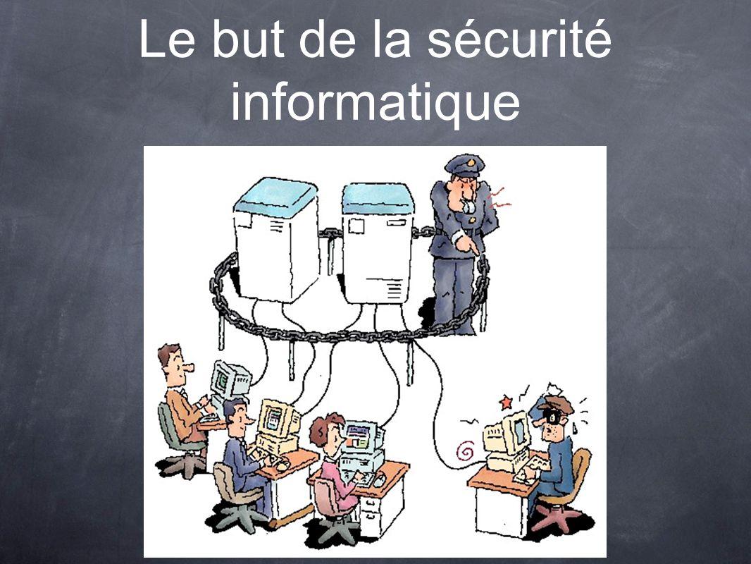 Le but de la sécurité informatique