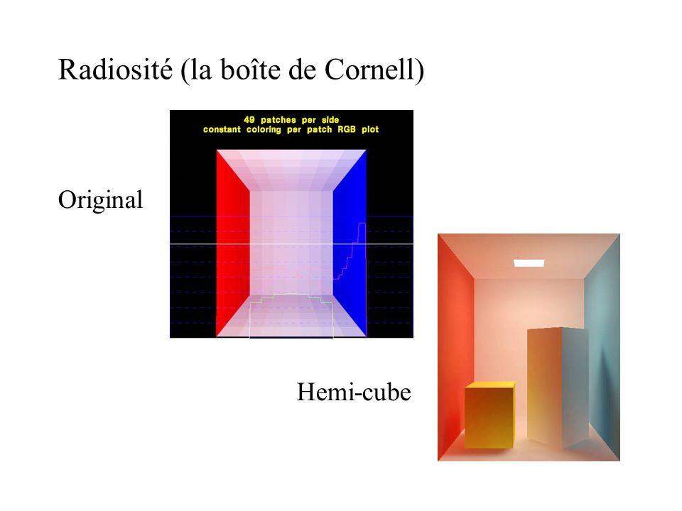 Radiosité (la boîte de Cornell) Original Hemi-cube