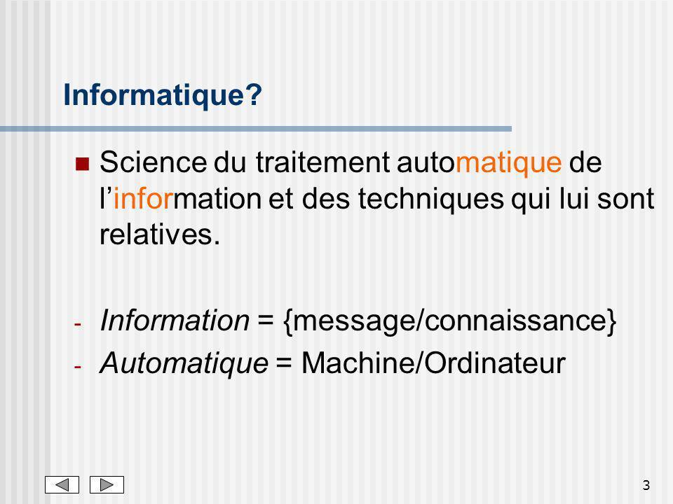 3 Informatique.