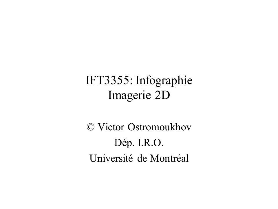 IFT3355: Infographie Imagerie 2D © Victor Ostromoukhov Dép. I.R.O. Université de Montréal