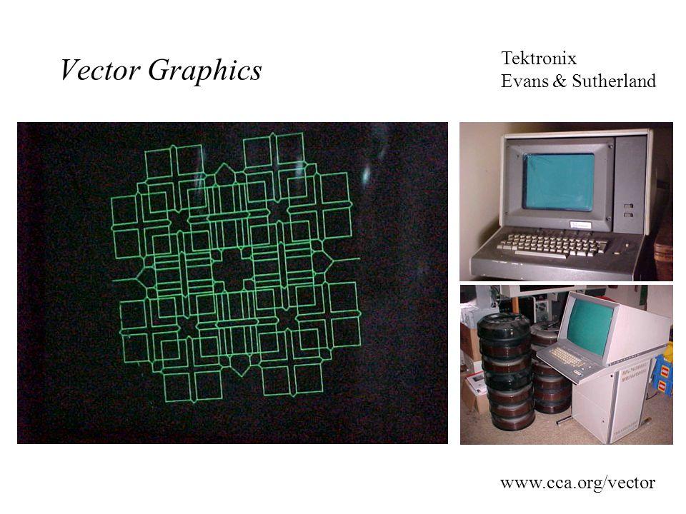 Vector Graphics www.cca.org/vector Tektronix Evans & Sutherland