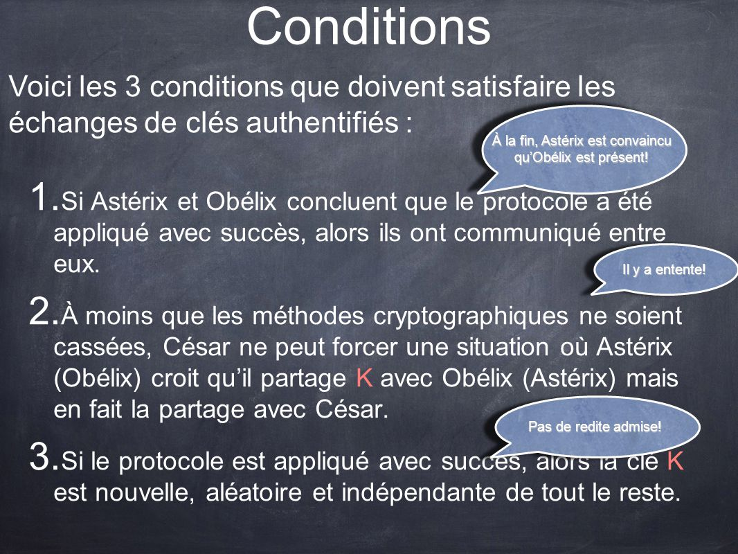 Conditions 1.