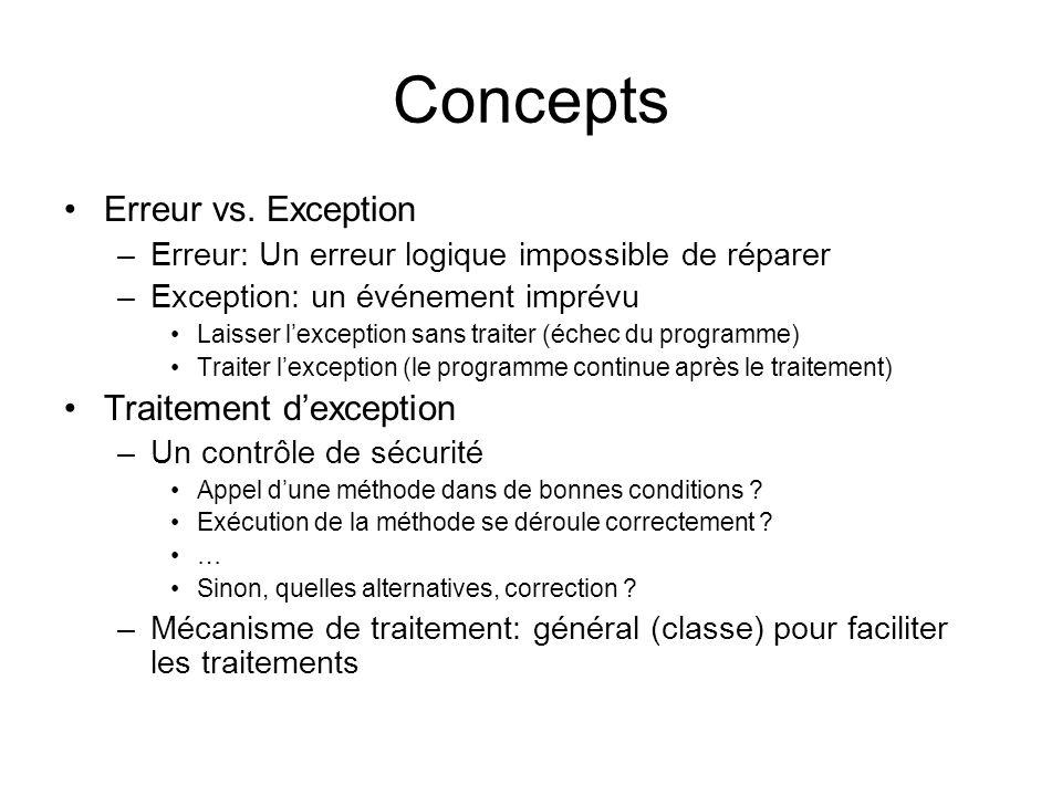 Concepts Erreur vs.