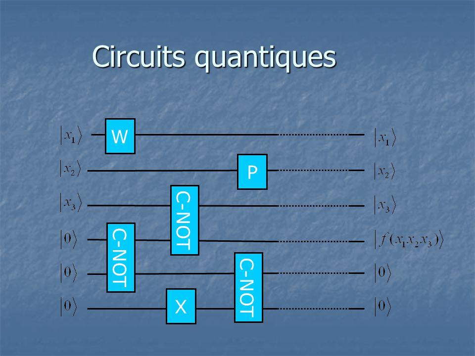 Circuits quantiques W C-NOT P X