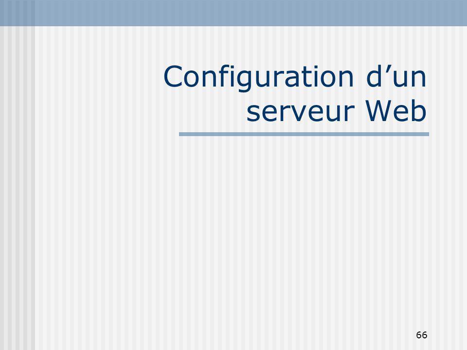 66 Configuration dun serveur Web