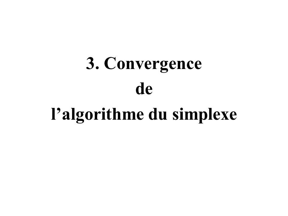 3. Convergence de lalgorithme du simplexe