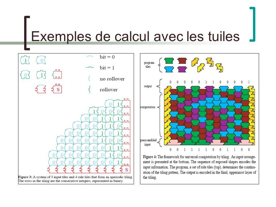 Exemples de calcul avec les tuiles