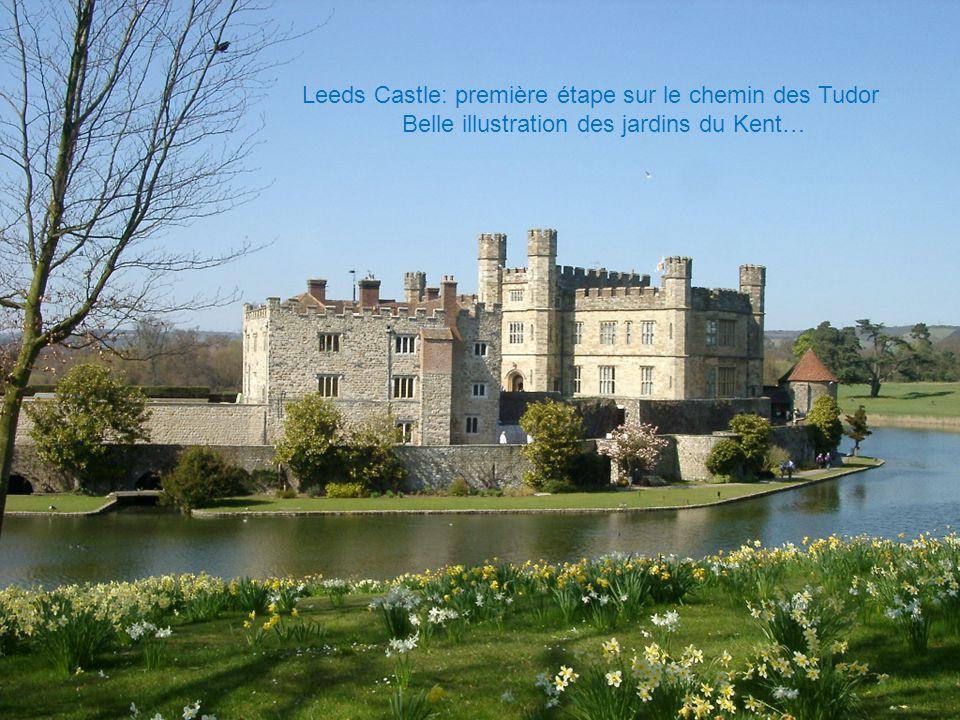 Leeds Castle: première étape sur le chemin des Tudor Belle illustration des jardins du Kent…