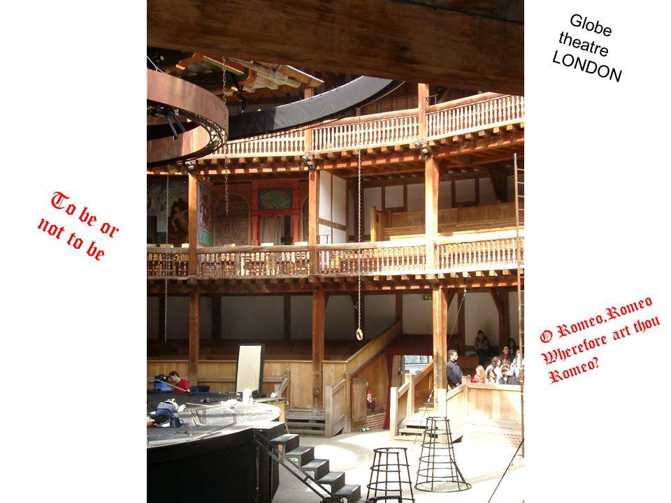 To be or not to be O Romeo,Romeo Wherefore art thou Romeo? Globe theatre LONDON