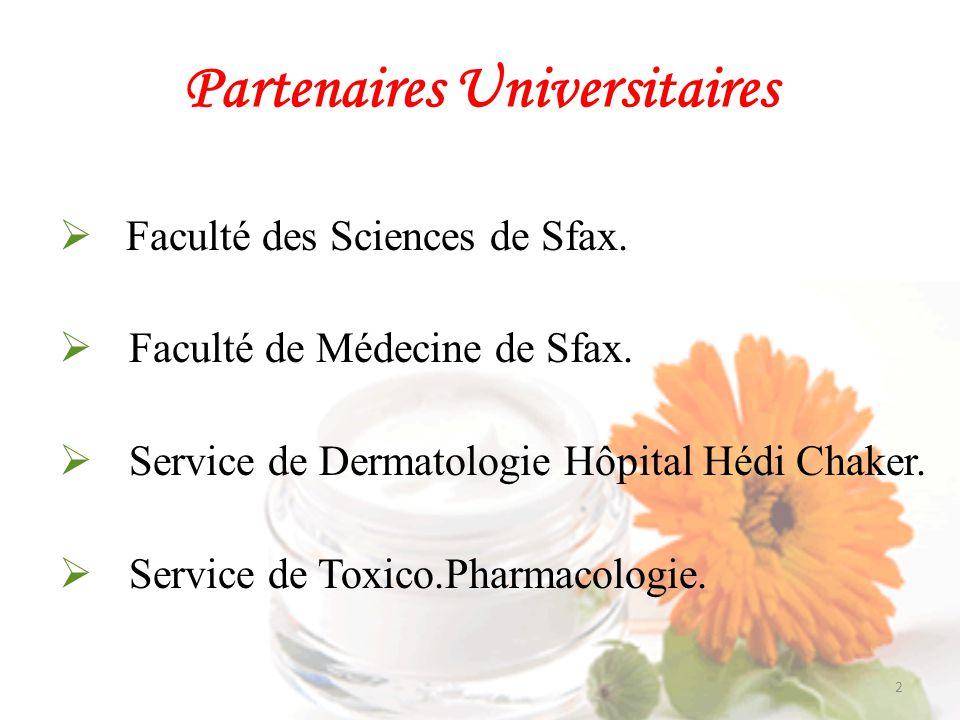 Partenaires Professionnels Société COSMART ( Sfax) Société BELLE ROSE (Sfax) Société SIMED ( Sfax) Parfumerie Africa (Sfax) Laboratoires Phénix ( Sfax) 3