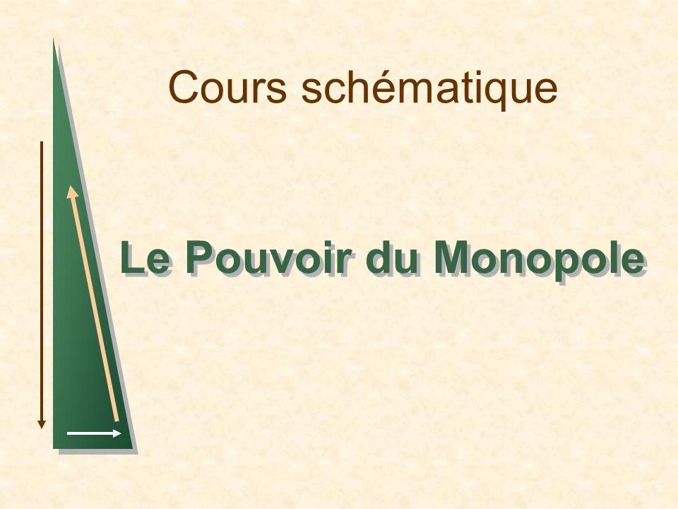 Cours schématique Le Pouvoir du Monopole