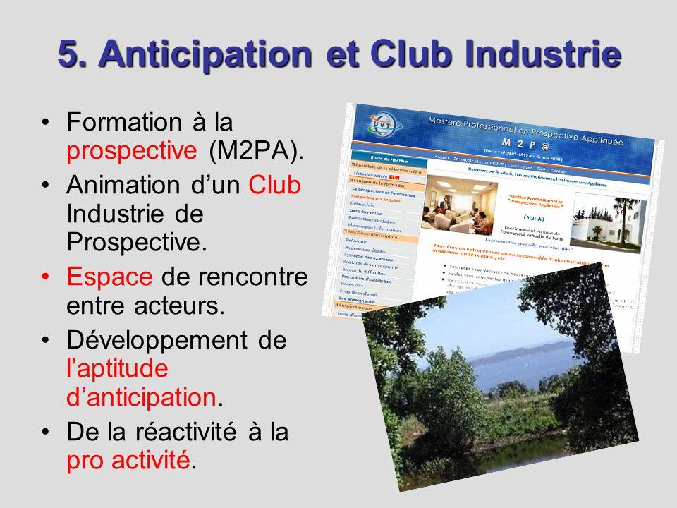 5. Anticipation et Club Industrie Formation à la prospective (M2PA).