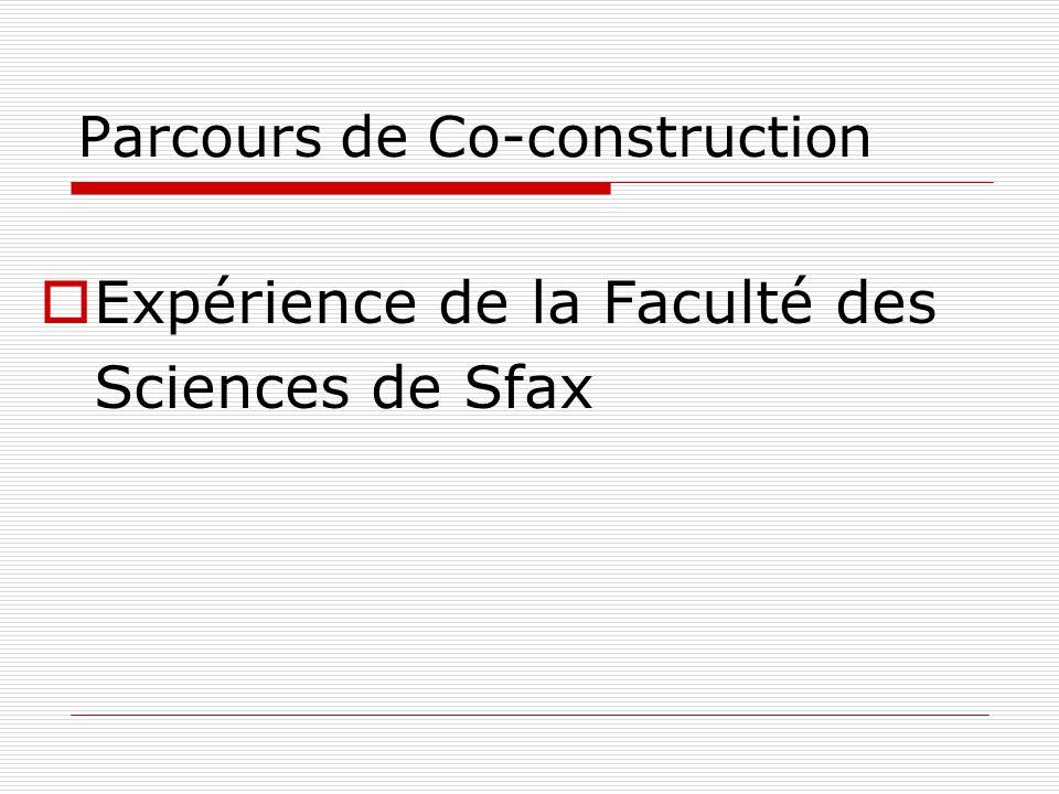 Parcours de Co-construction Expérience de la Faculté des Sciences de Sfax