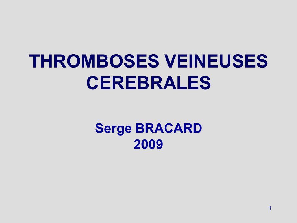 22 Scanner cérébral Hyperdensité spontanée signe très précoce (< 5 jours) et rare « signe de la corde » (veine) ou du « triangle dense » (sinus) faux positifs