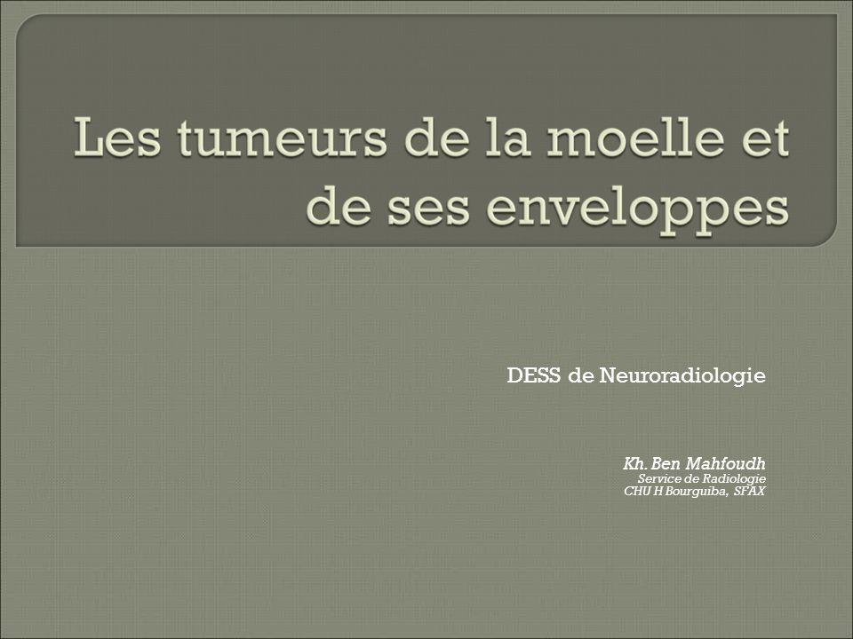 DESS de Neuroradiologie Kh. Ben Mahfoudh Service de Radiologie CHU H Bourguiba, SFAX