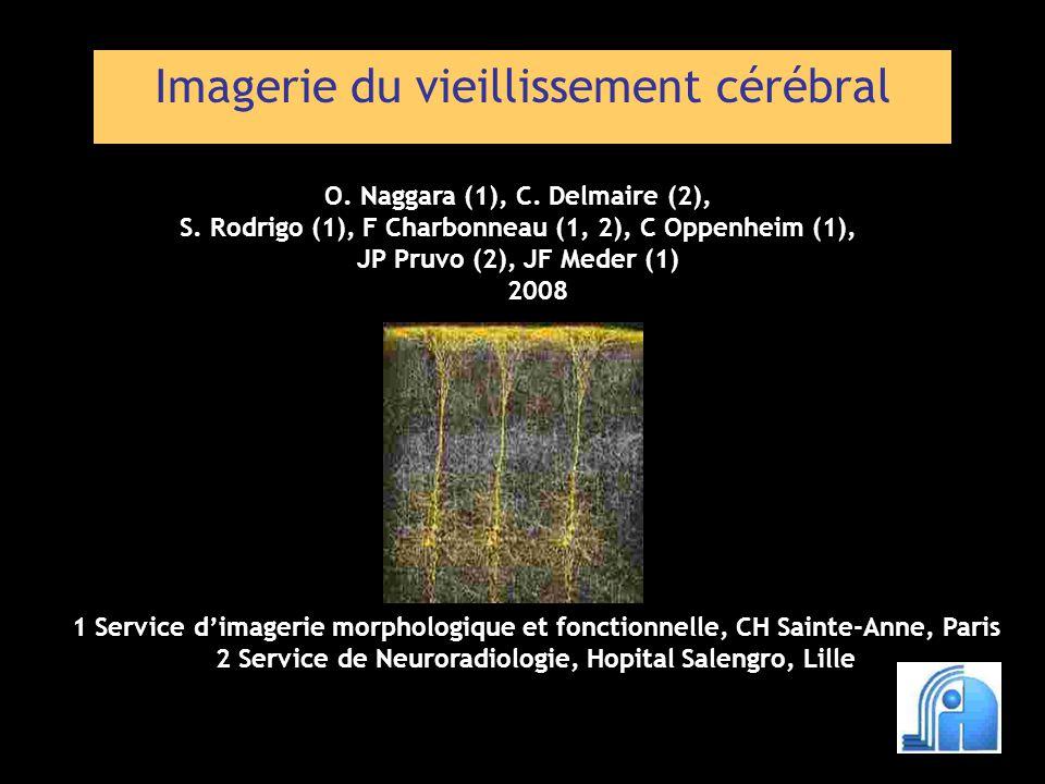 Imagerie du vieillissement cérébral 1 Service dimagerie morphologique et fonctionnelle, CH Sainte-Anne, Paris 2 Service de Neuroradiologie, Hopital Sa