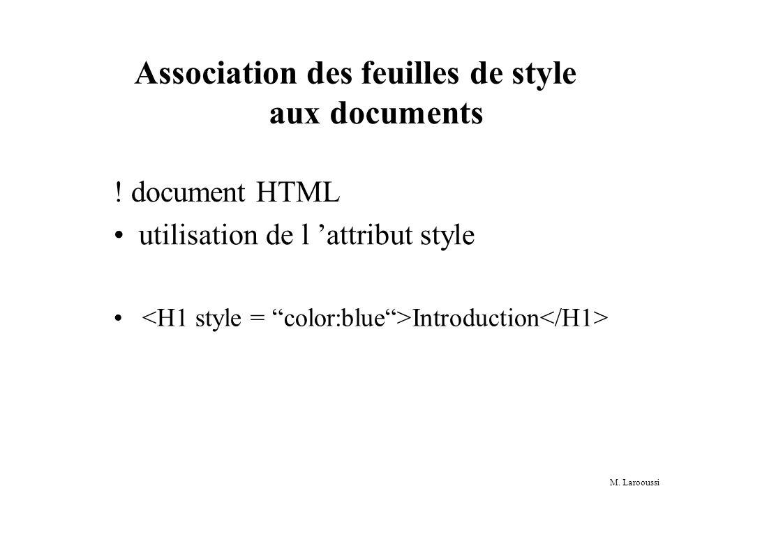 M.Larooussi Multiplicité des spécifications de style .