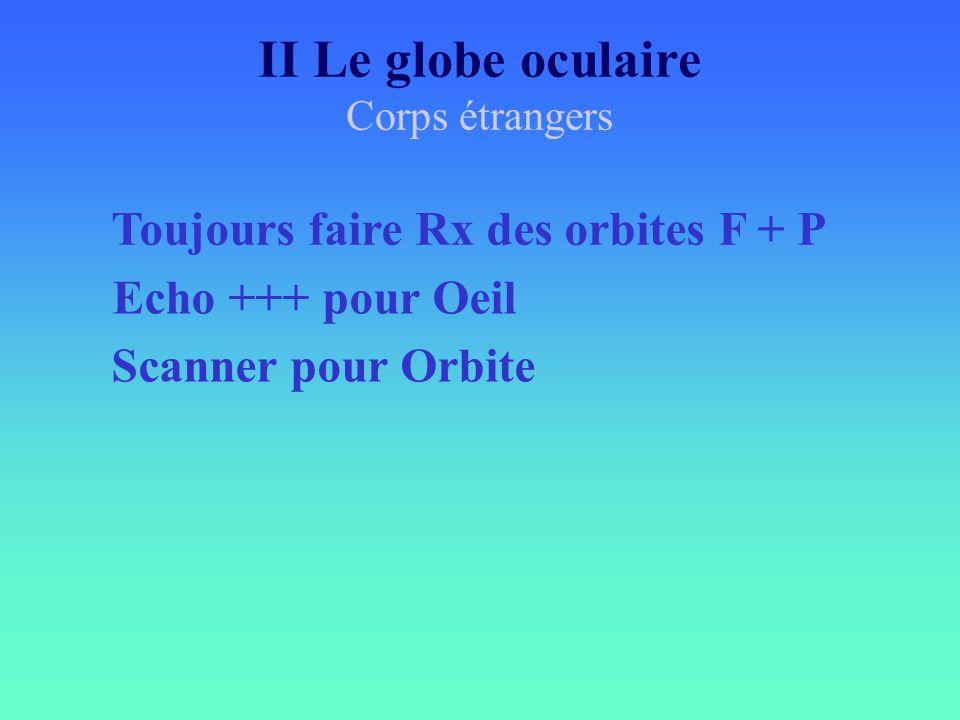 Toujours faire Rx des orbites F + P Echo +++ pour Oeil Scanner pour Orbite II Le globe oculaire Corps étrangers