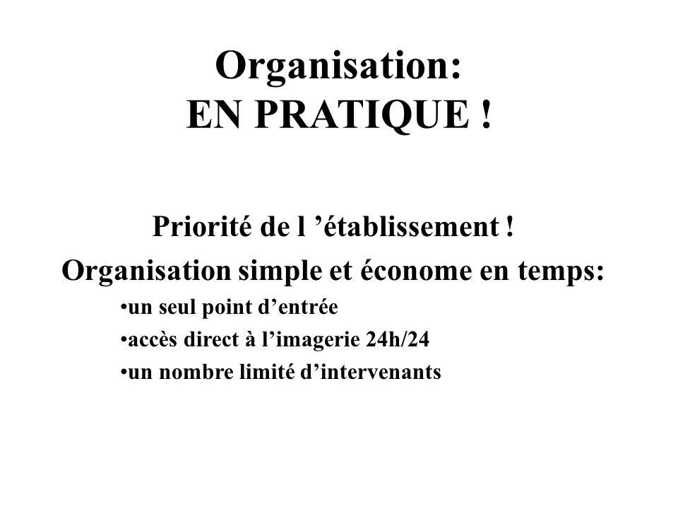 Organisation: EN PRATIQUE .Priorité de l établissement .