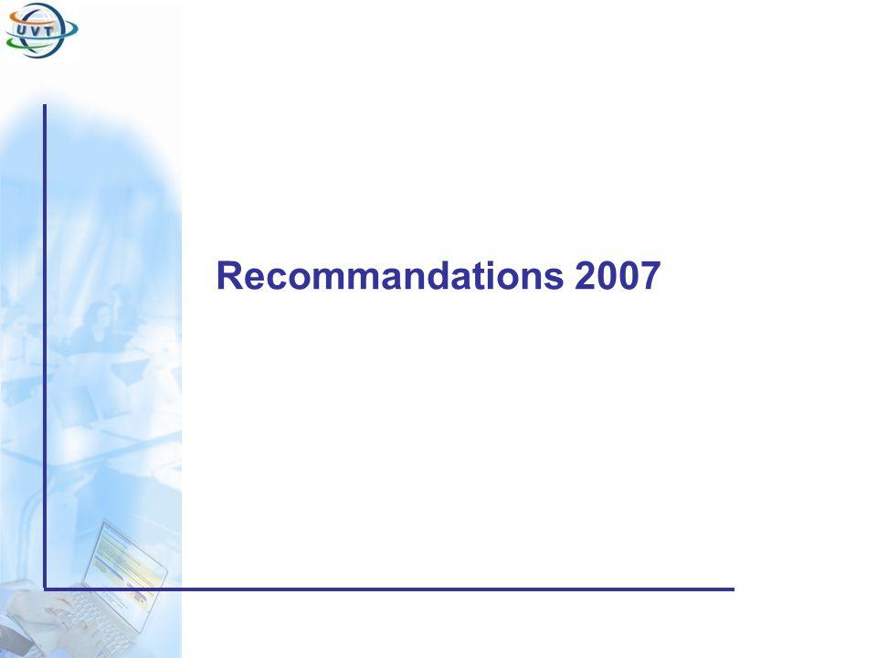 Certificat Informatique et Internet Recommandations 2007