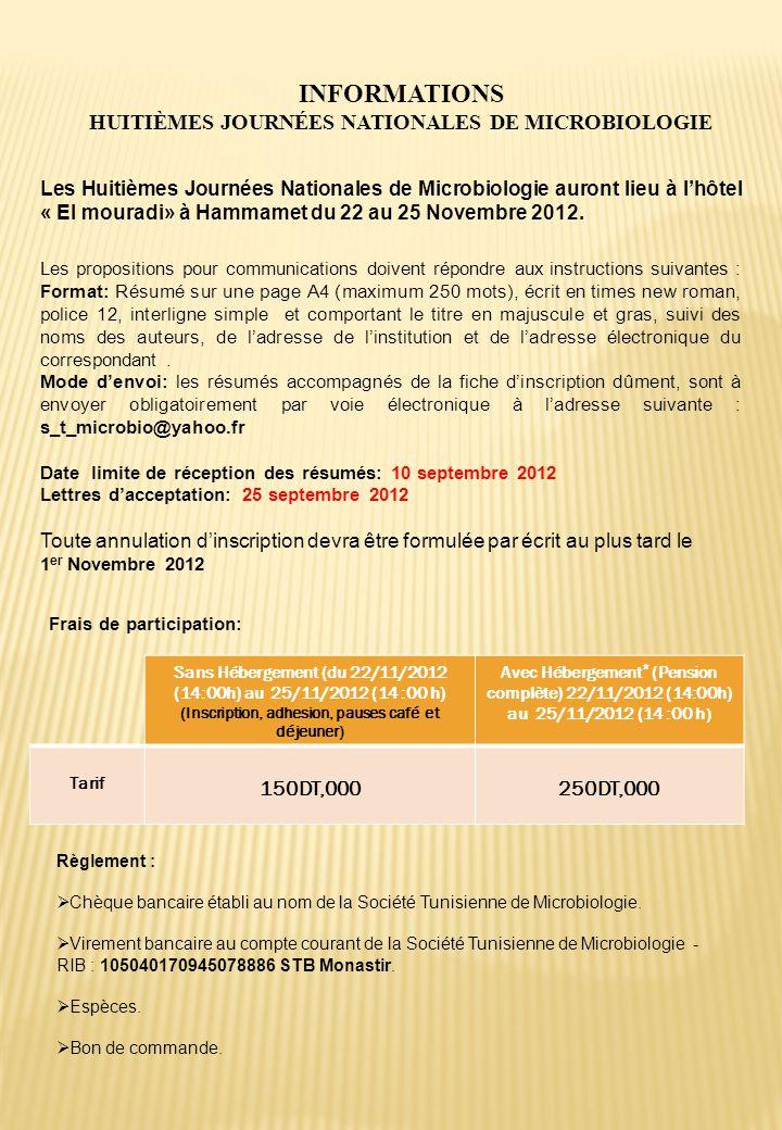 Sans Hébergement (du 22/11/2012 (14:00h) au 25/11/2012 (14 :00 h) (Inscription, adhesion, pauses café et déjeuner) Avec Hébergement * (Pension complèt