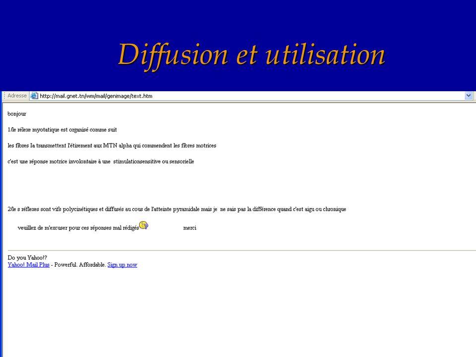 Diffusion et utilisation