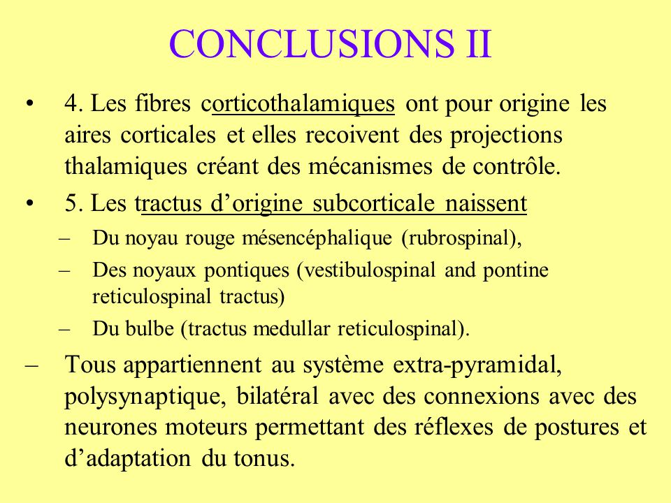 CONCLUSIONS II 4.