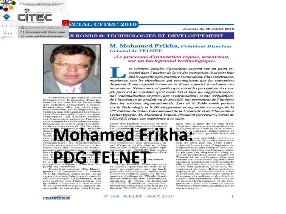 Mohamed Frikha: PDG TELNET