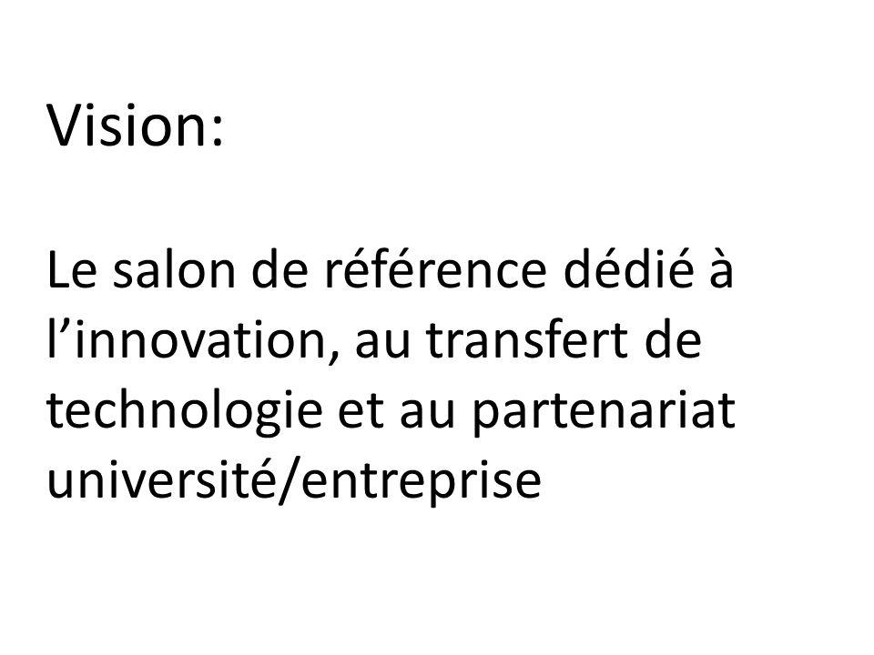 Vision: Le salon de référence dédié à linnovation, au transfert de technologie et au partenariat université/entreprise