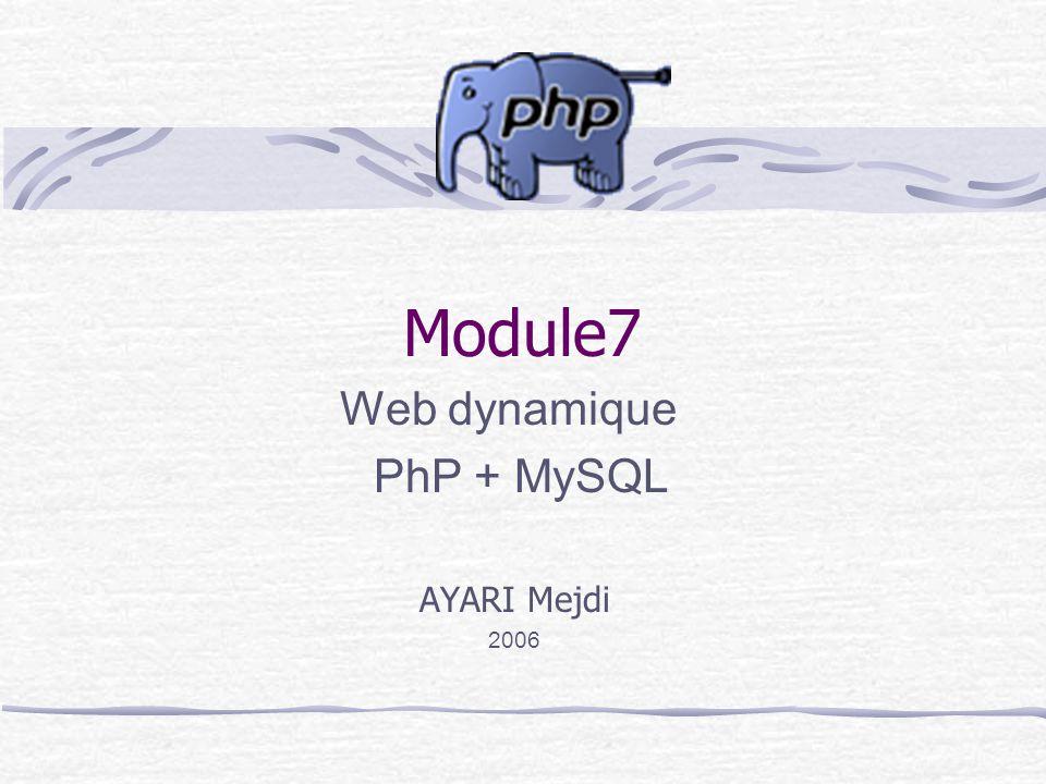 Module7 Web dynamique PhP + MySQL AYARI Mejdi 2006