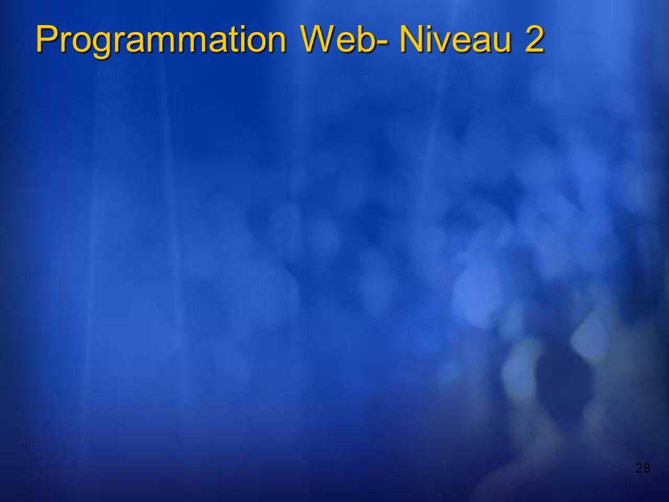 28 Programmation Web- Niveau 2