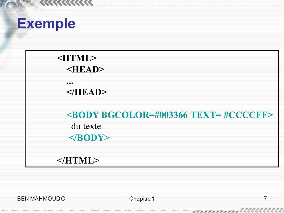 BEN MAHMOUD CChapitre 17 Exemple... du texte