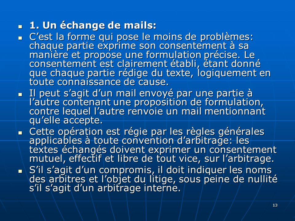 13 1.Un échange de mails: 1.