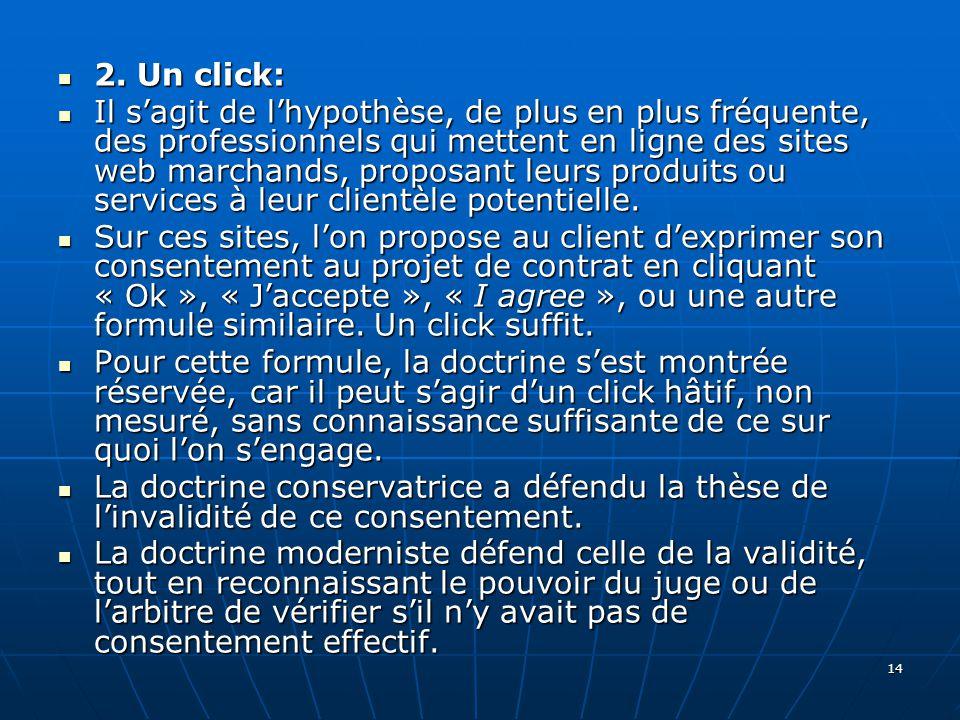 14 2. Un click: 2.