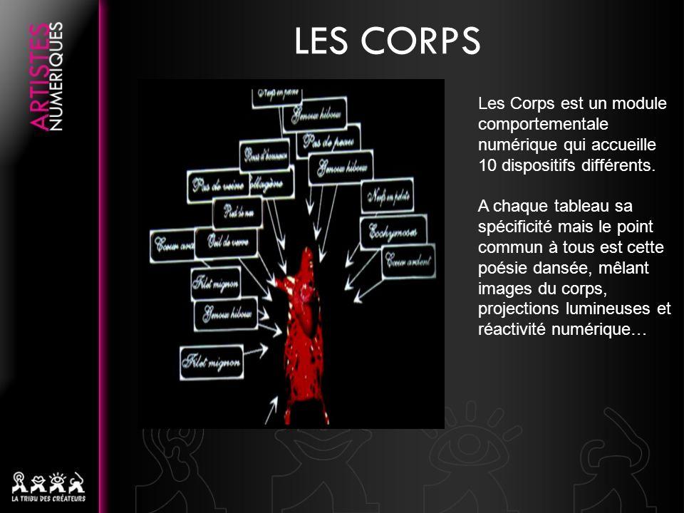 Les Corps est un module comportementale numérique qui accueille 10 dispositifs différents.