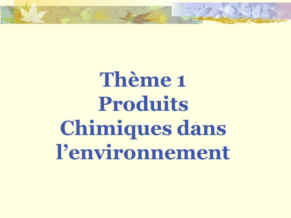 Thème 1 Produits Chimiques dans lenvironnement