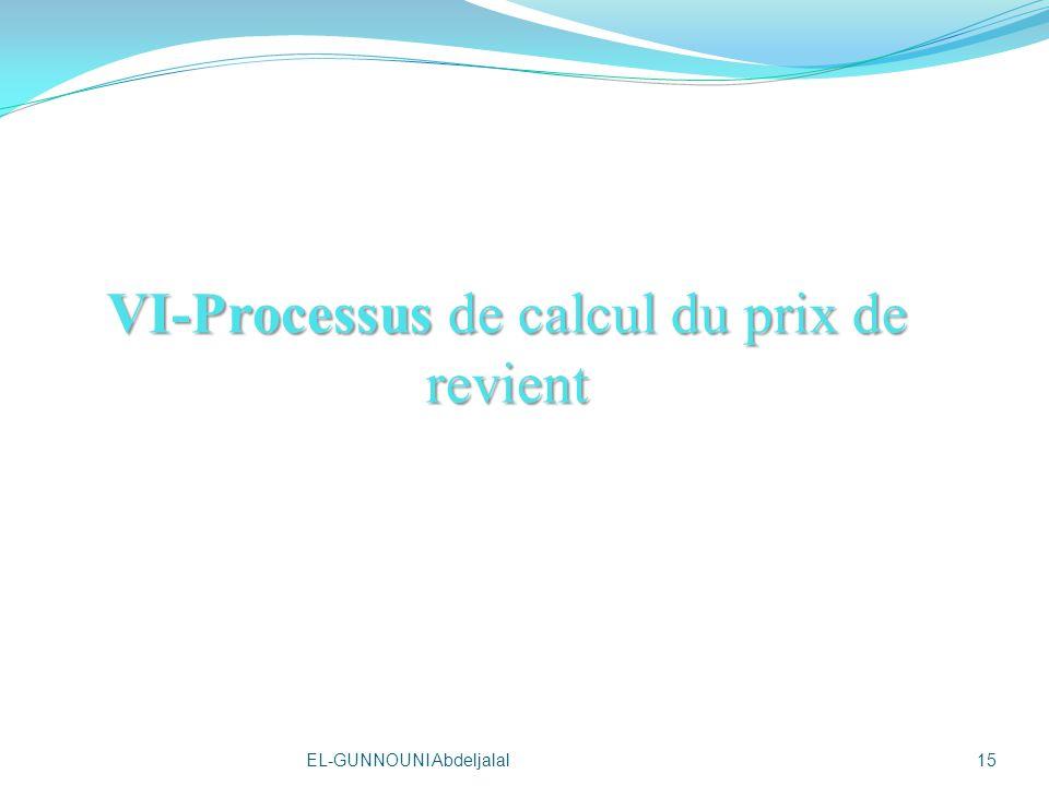 VI-Processus de calcul du prix de revient 15EL-GUNNOUNI Abdeljalal