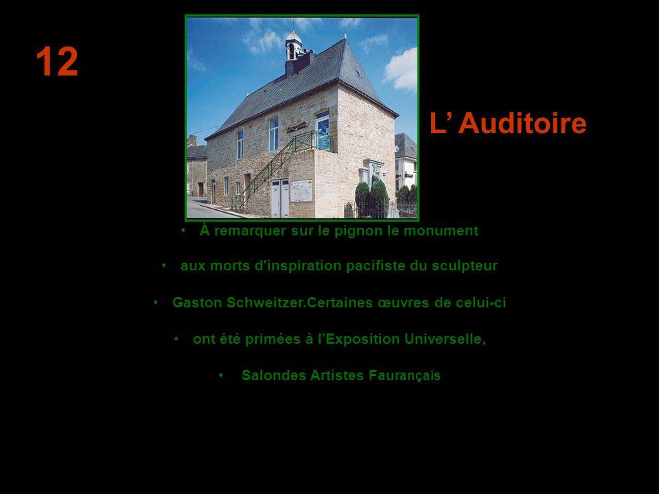 L Auditoire Ce bâtiment monumental est lancien palais de justice.