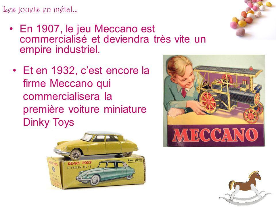 # Les jouets en métal… Il y en a pour tous les goûts et tous les âges. On retrouve les toupies, les petites cuisines et les bateaux de guerre. Cest en
