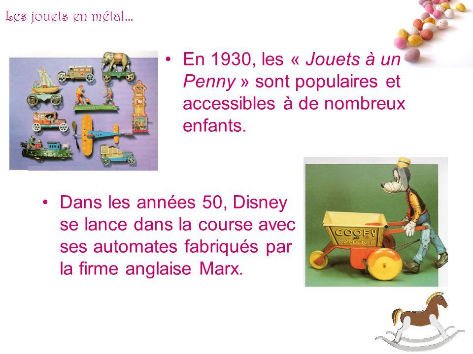 # Les jouets en métal… Les petites merveilles du jouet en métal restent incontestablement les automates : ces jouets faisant appel aux ressorts de lho