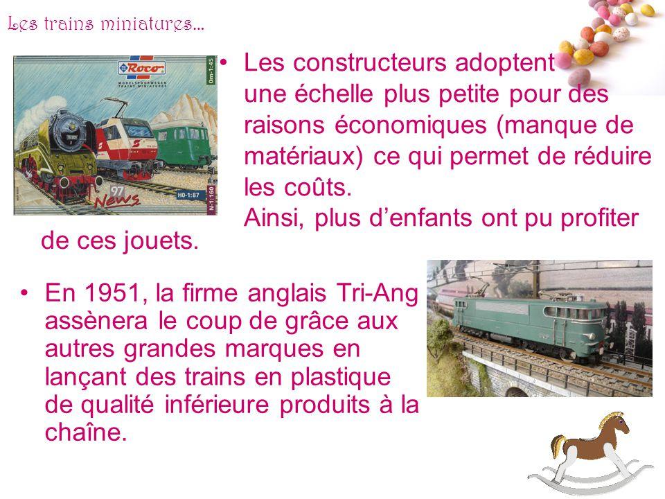 # Les trains miniatures… Au début du XXème siècle, les trains miniatures de lallemand Märklin fonctionnent avec un mécanisme dhorlogerie. La construct