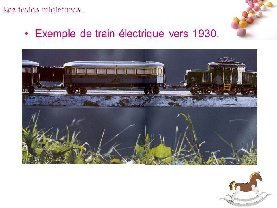 # Les trains miniatures… En 1951, la firme anglais Tri-Ang assènera le coup de grâce aux autres grandes marques en lançant des trains en plastique de