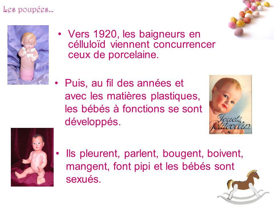 # Ces poupées faites en biscuit reproduisent les expressions de véritables bébés de manière intrigante : rires, pleurs… En 1909, la mode des « bébés c