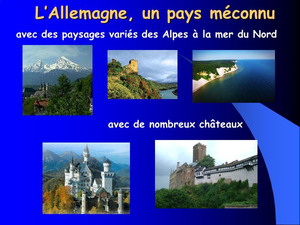 LAllemagne, un pays méconnu avec des paysages variés des Alpes à la mer du Nord avec de nombreux châteaux